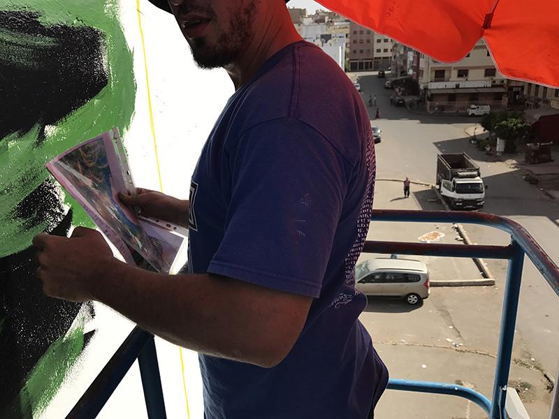 artiste, maroc, street art