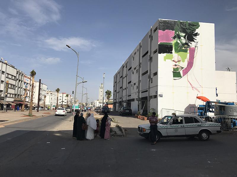 visage, féminin, art, street art, fresque