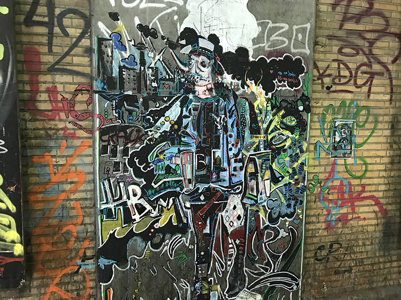 Basquiat belge, art de rue street art