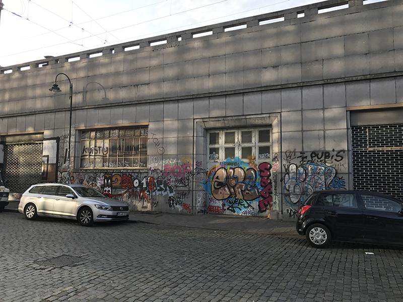 urbain, paysage, belgique, graffiti