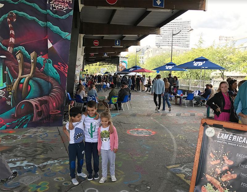 entrée, espace, street culture