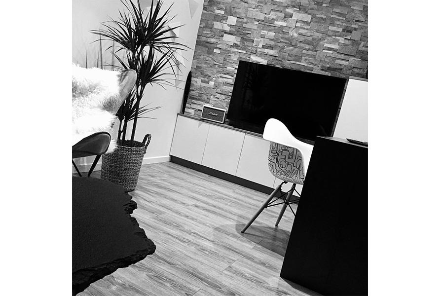 photo, décoration intérieur , noir et blanc , Moodboard