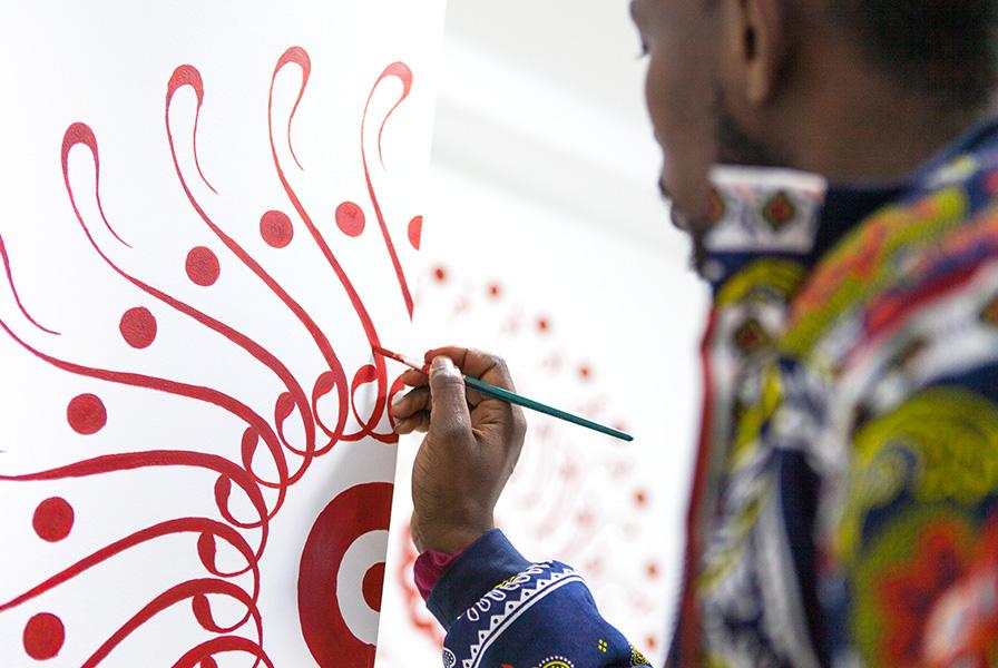 Graffiti artiste, comorien, Comores, peintre, fresque