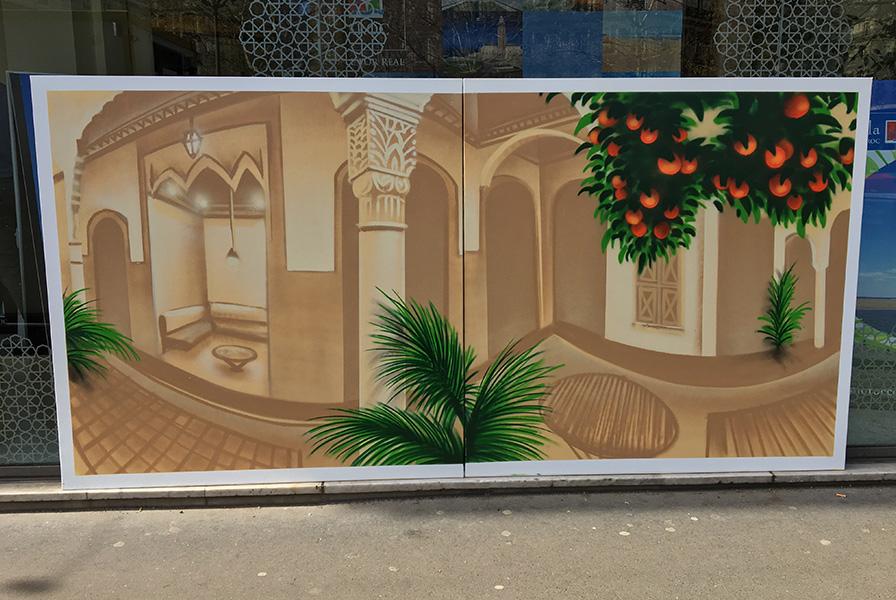 Toile, office, tourisme, Maroc, thématique, street art