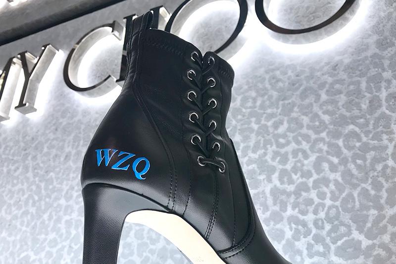 chaussures, cuir, noires, personnalisées, leather