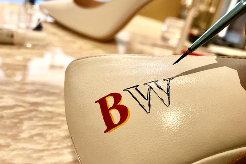 personnalisation monogrammes, paris, art, initiales, chaussures, luxe