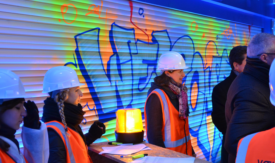 Graffiti en arrière plan de l'événement