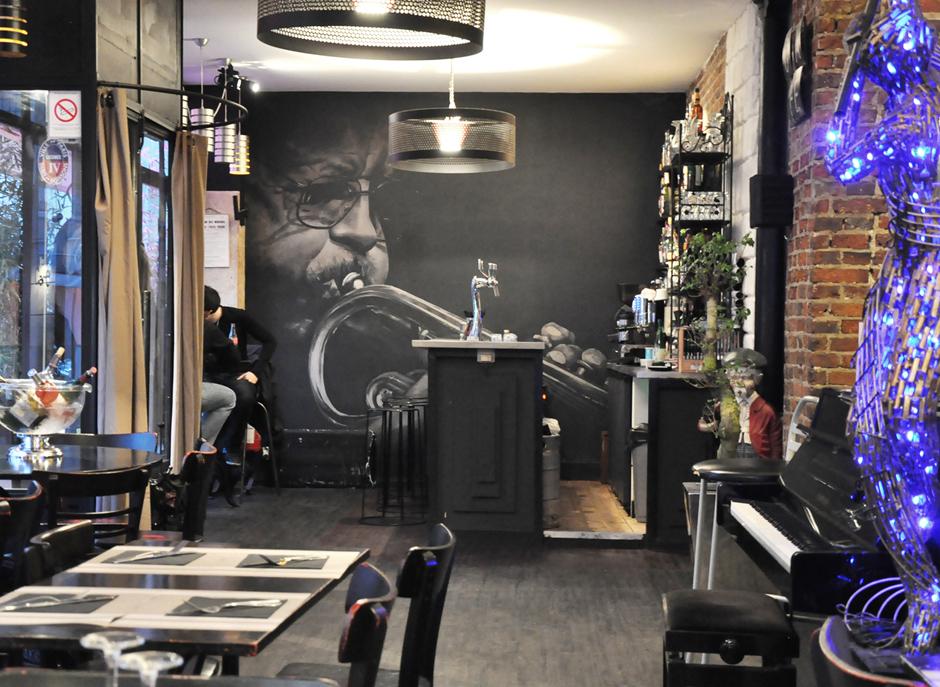 Portrait, jazz, décoration, street art, Paris