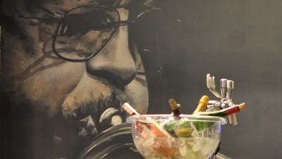 décoration, graffiti, graph, intérieur, bar, portrait, jazz, ambiance, lounge, habillage, bouteilles, vin, paris