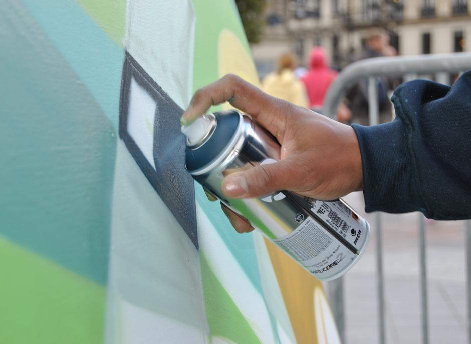 Bombe, peinture, graff, spray, art, matériel, spécialisé, artiste