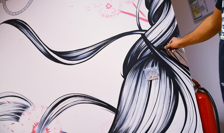 décoration graffiti au posa