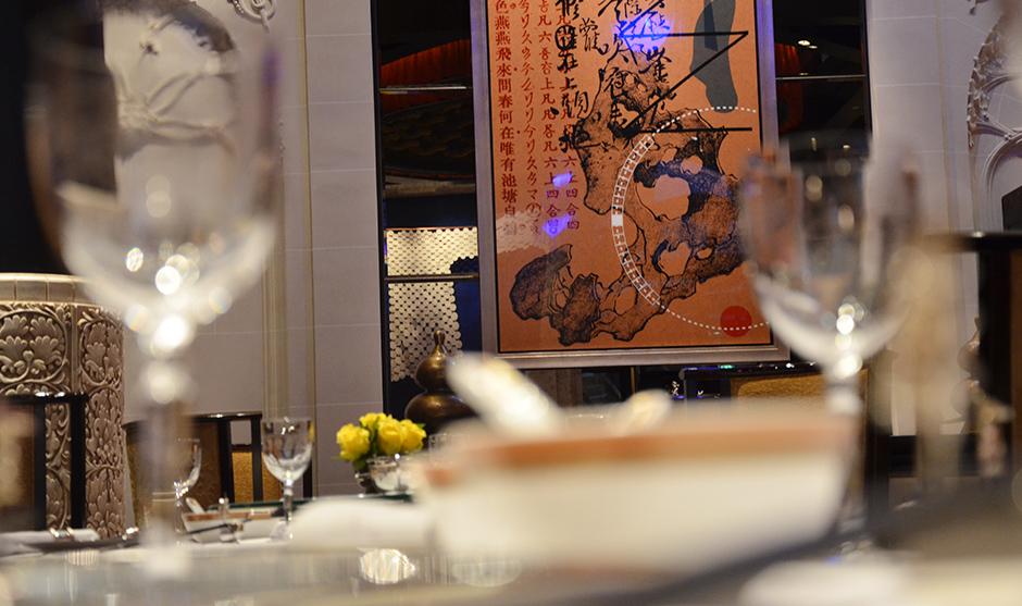 décoration intérieure d'uns des plus grands restaurants chinois de Paris