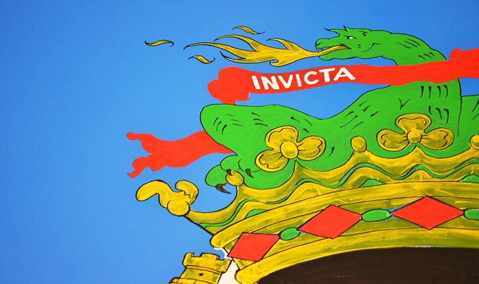 zoom sur le sommet du logo du blason du club de Porto