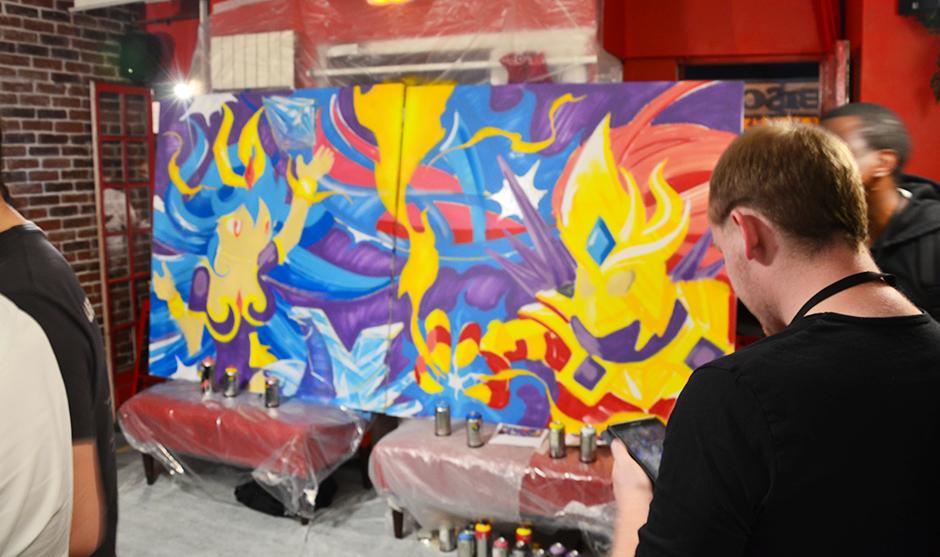 les nouvelles bombes de graffiti permettent de travailler en intérieur