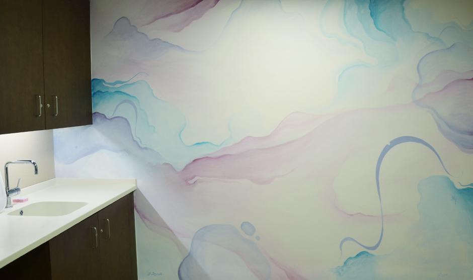 peinture abstraite à la manière d'une aquarelle