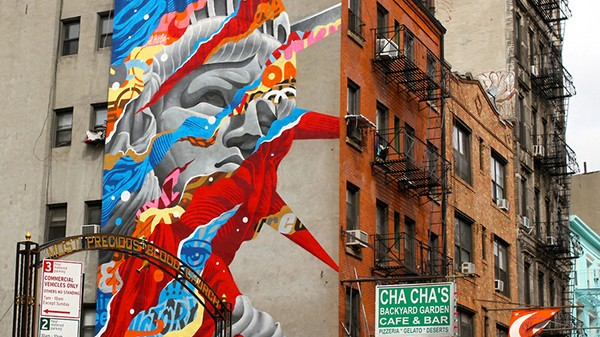 Statue of Liberty remixed by Tristan Eaton
