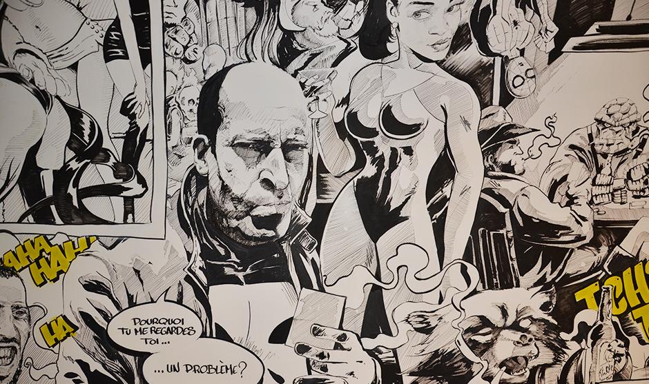 fresque, bd, comics, super héro, marvel, portrait, portraitiste