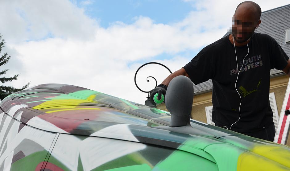 artcar, voitures personnalisées, peinture moderne, graffiti art, street art