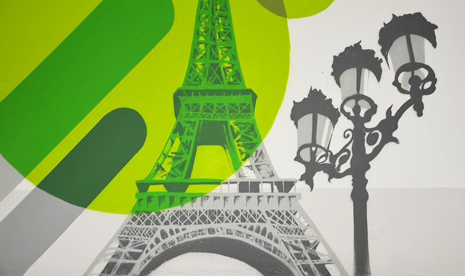 Elements symboliques représentatifs de la ville de Paris.