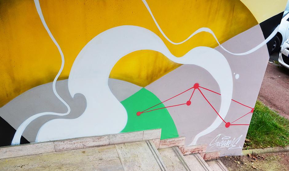 détail, fresque, signature, tag, tagueur , mur, abstrait