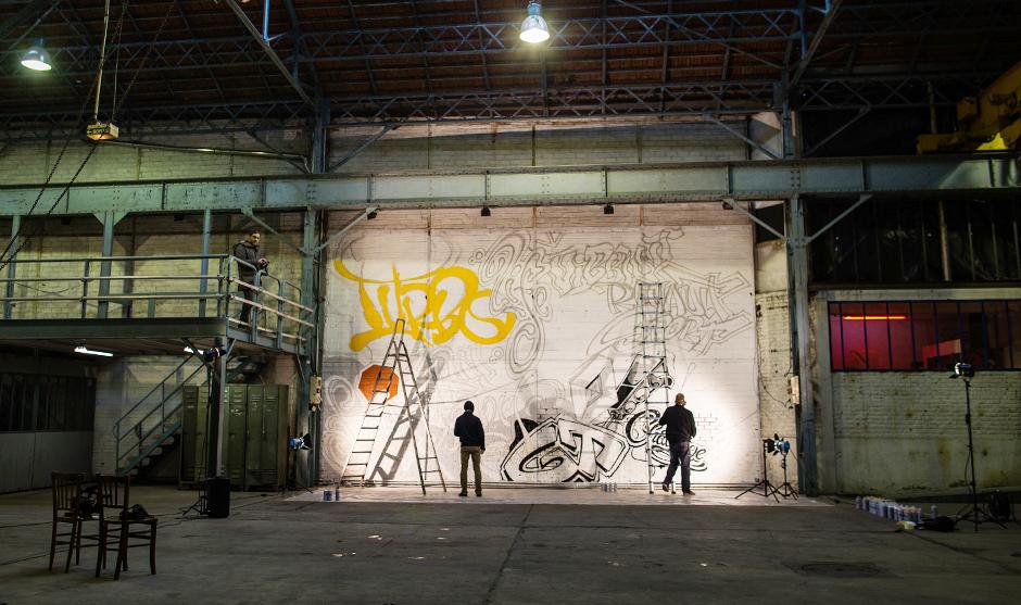 fresque, live, graffiti, en direct, graffeurs, art, street art, renault, twingo