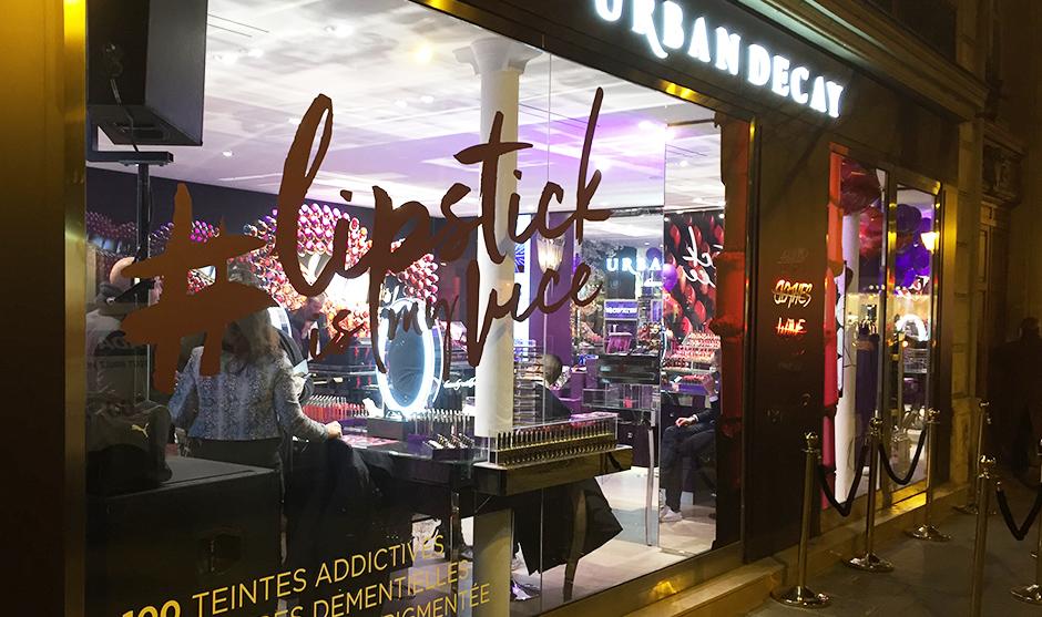 Boutique beauté de la célèbre marque de maquillage au coeur de Paris