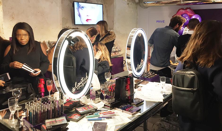sous-sol, boutique, maquillage, beauté, blogueuse, marque, événement