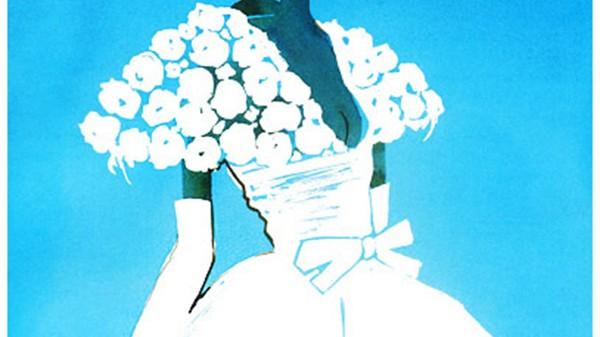 illustration d'une silhouette d'une mariée en robe blanche