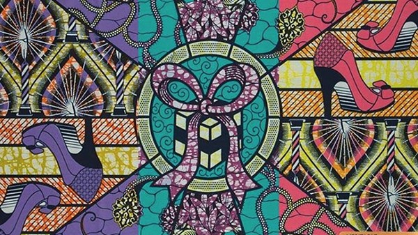 objets, illustration, design tissus wax africains
