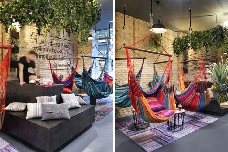 chaises, canapé, mobilier, original, idée, pourquoi pas, déco, décoration, restaurant