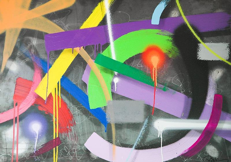 oeuvre, babs, abstrait, graffiti, street art