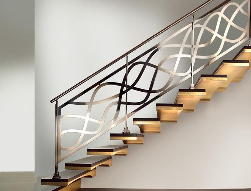 Rampe, escaliers, métal, original, idée, décoration