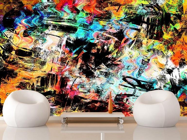 décoration, originale, salon, street art, graffiti