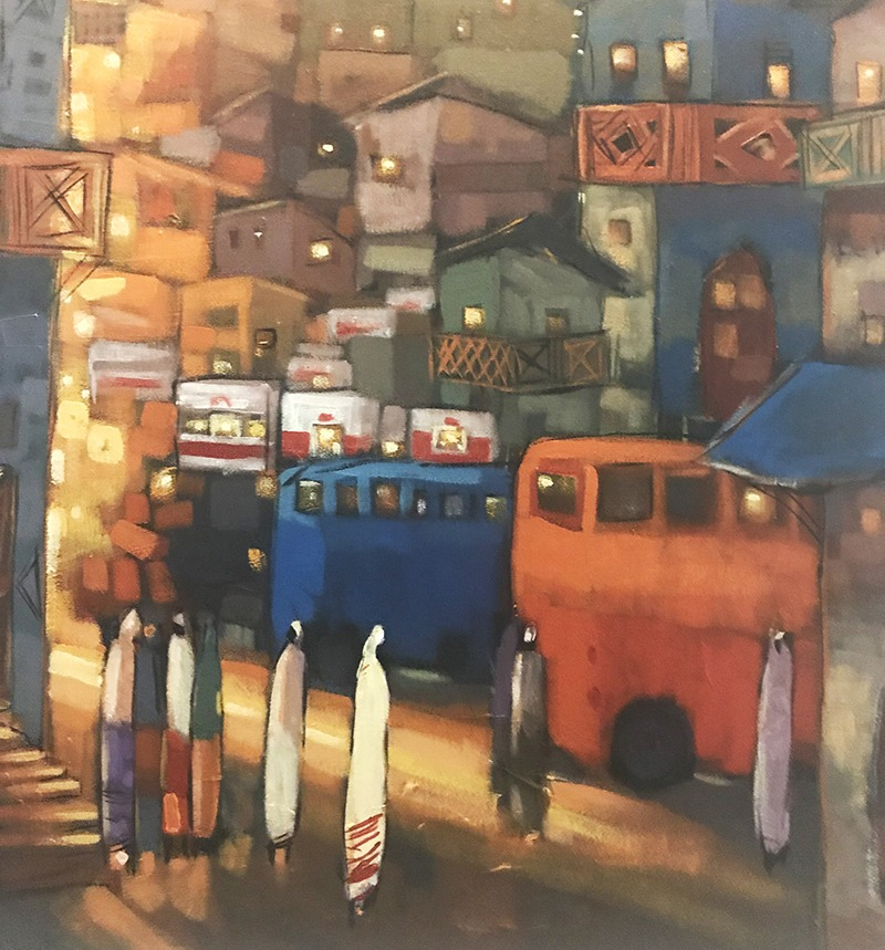 Toile, oeuvre, art, contemporain, Addis Abeba, Ethiopie