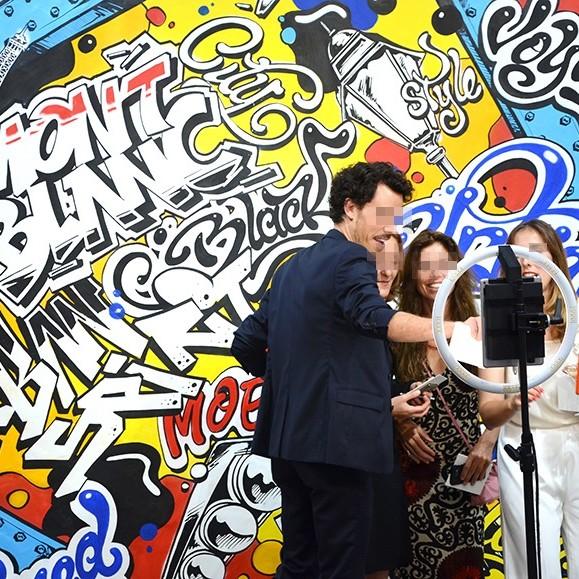 art, événementielle, Paris, Photocall, invités, guests, cuir, nouvelle collection.