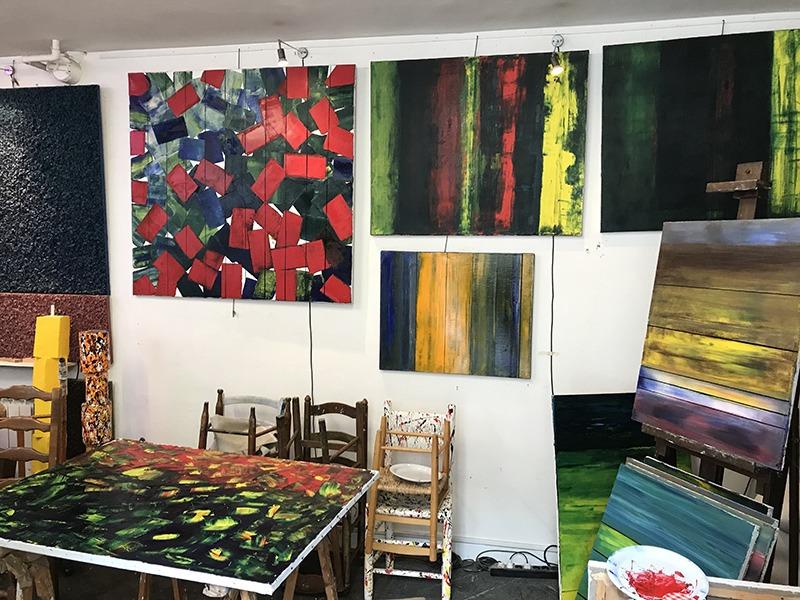 Atelier, Jean Serolle, abstrait, arts, galerie, Paris