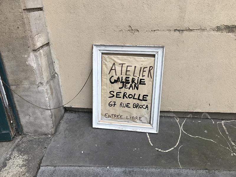 Atelier, Galerie, Jean Serolle, Rue Broca, art contemporain