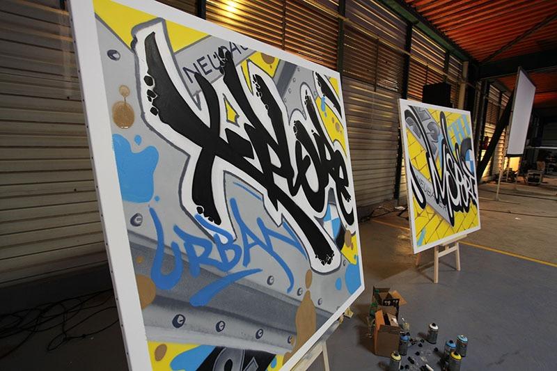 BMW, graffiti, X2, lancement, véhicule, street art, Paris