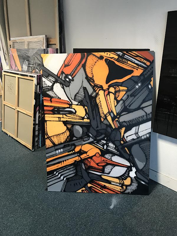 Canvas, graffiti, street art, réalisation, toile, exposition