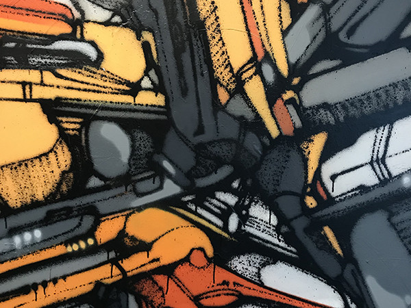 Toile, graffiti, abstraite , graffiti, artiste, Babs