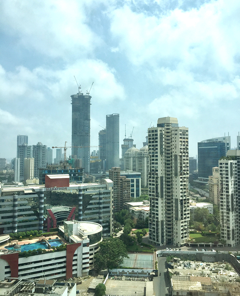 Cityscape, Bombay, Mumbai, Inde, urbain, tours, grattes ciels