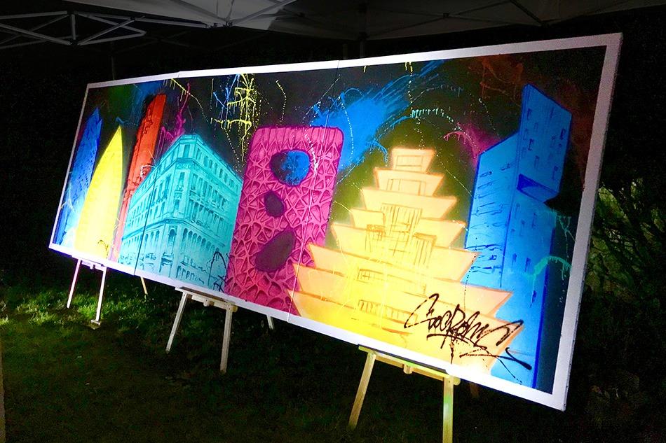 Street Art, graph, graphiti, événementiel, soirée, live, en direct, artiste, toile