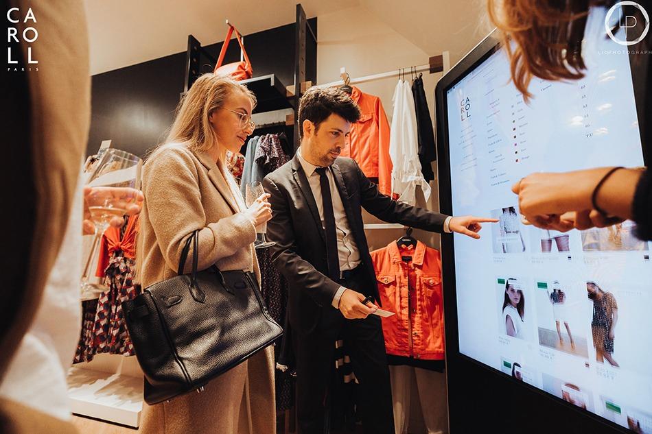 Ouverture, réouverture, boutique, Caroll, Ecran, digital, numérique, innovation