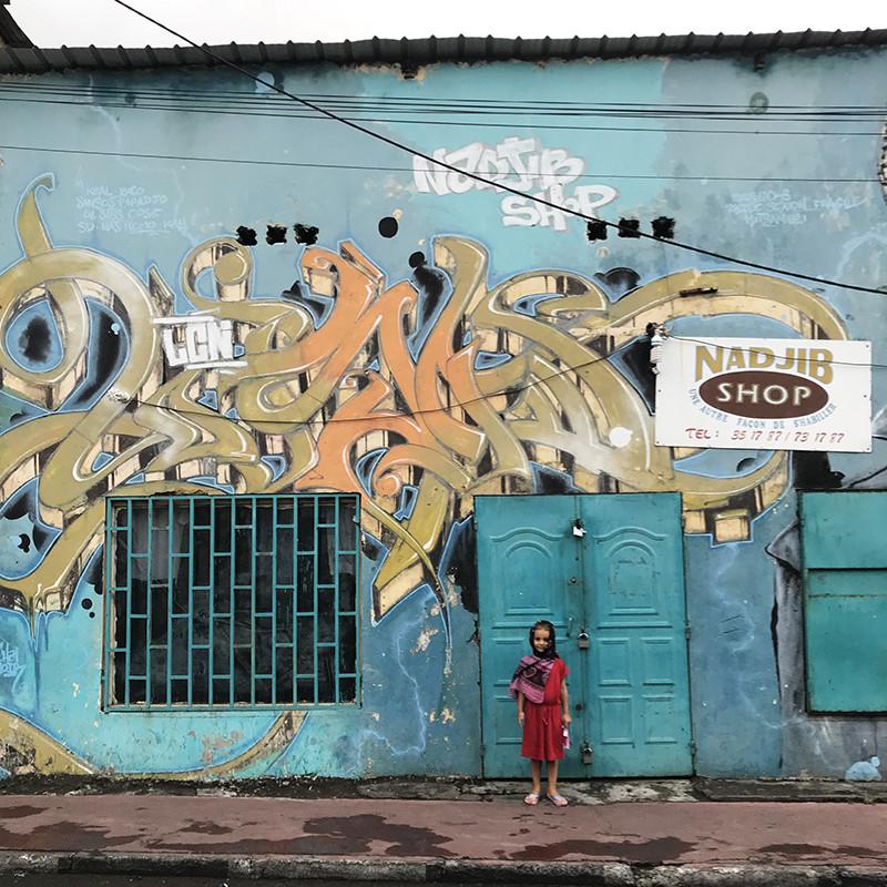 vieux, graffiti, mur, pâle, abîmé, usé