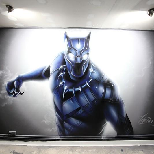 décoration, graffiti, street art, super héros, enfant, paris