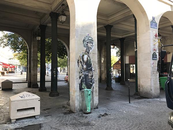 graffiti, affichage, street art à chatelet