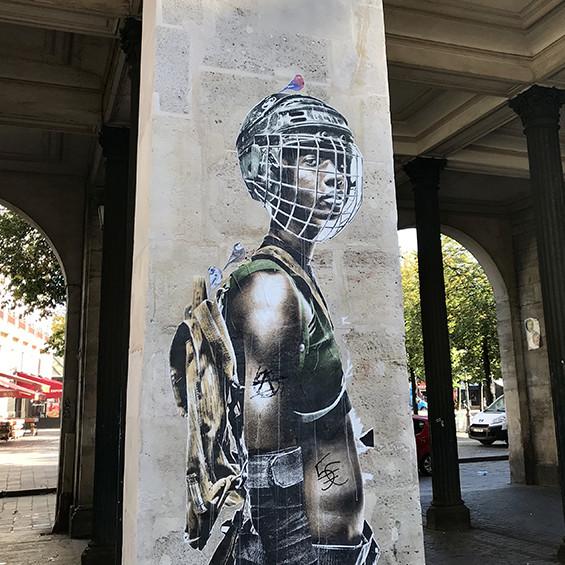 personnage, Afro, street art, urbain, affichage