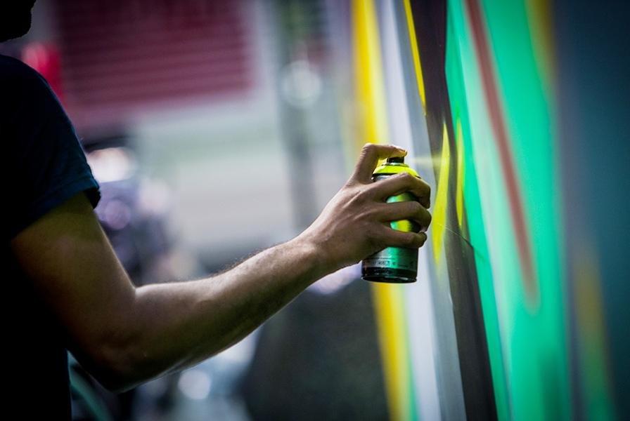 graffiti live, street art, en direct, fresque évolutive
