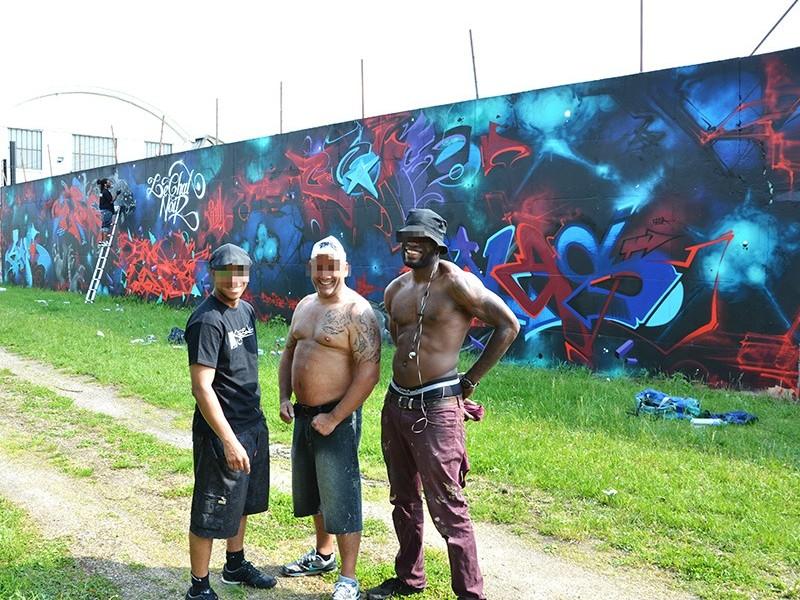 graffiti, street art, fresque, monumentale