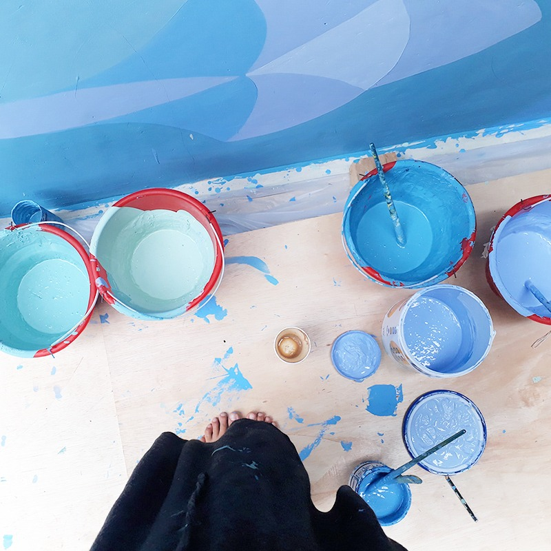 art, street art, fresque, lombok, indonésie, piscine, déco, originale, art